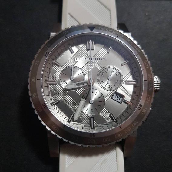 Relógio Suíço Burberry Original Na Caixa Cronógrafo