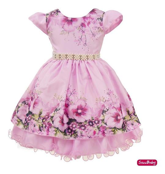 Vestido Jardim Encantado Princesa Infantil Daminha Luxo