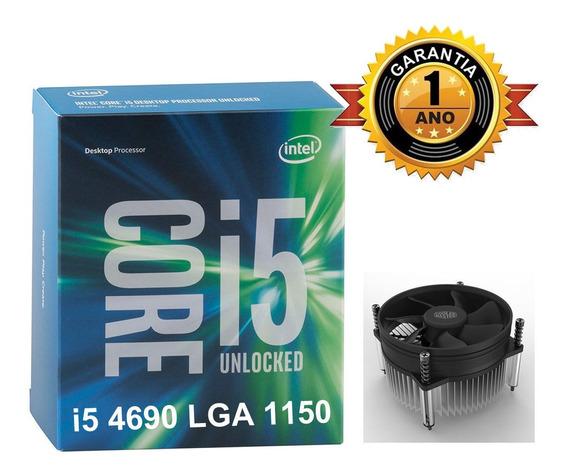 Processador Intel Core I5 4690 3.5 1150 Gar. 1 Ano C/cooler.