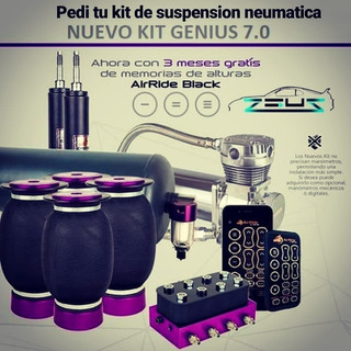 Suspension Neumatica Kit Genius 7.0 + Bluetooth + Memoria