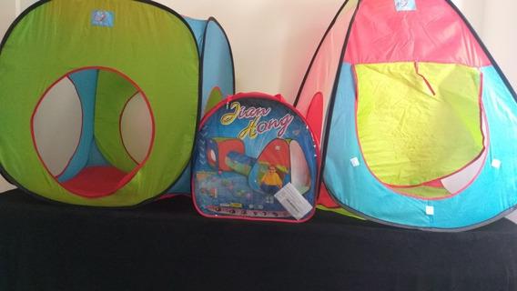 Cabana / Toca Infantil Com 100 Bolas Coloridas