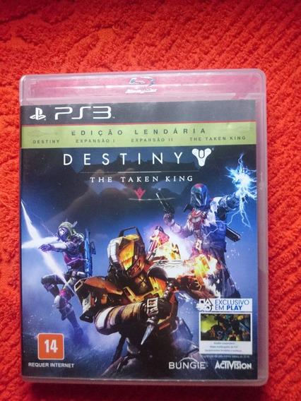 Destiny The Taken King Ediçao Lendaria Ps3 Fisica Frete R$10