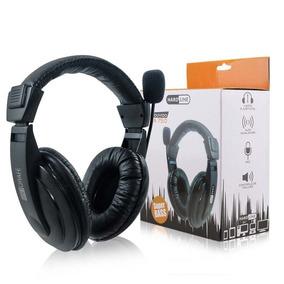 Fone Headset Com Microfone Haste Regulável Via 750 Hardline