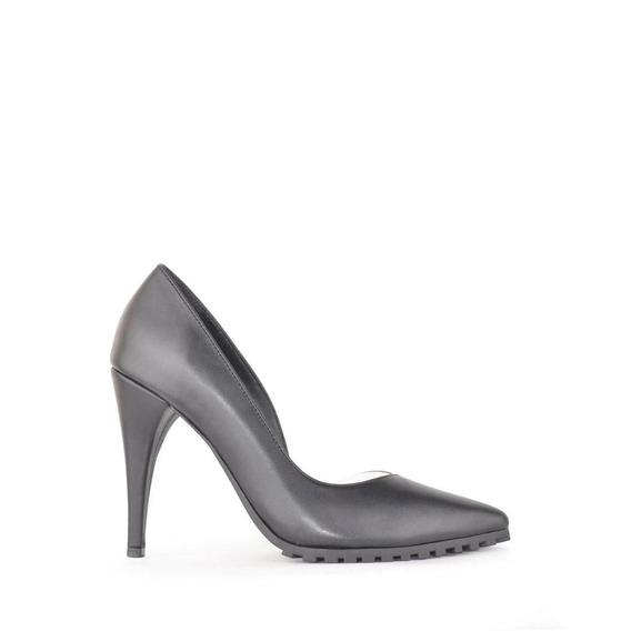 Zapatos Stilettto De Cuero Negro Mujer Nina - Ferraro -