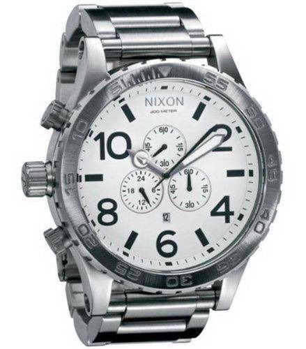 Relógio G0442 Nixon Branco - Pulseira Aço Prata C/ Caixa