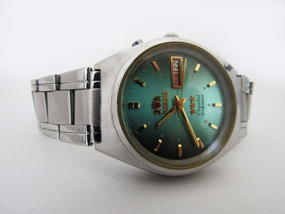 Relógio Orient Automático Original Usado Pulseira De Metal