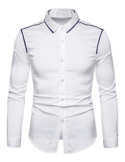 Camisa , Hombre Chemise Tacto Suave Al Cuerpo