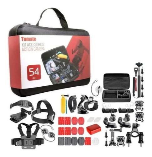 Imagem 1 de 5 de Kit Acessórios Action Camera 54 Em 1 Maleta Tomate Mt1101