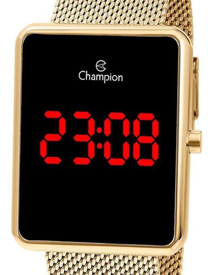 Relógio Champion Led Dourado Feminino Ch40080v