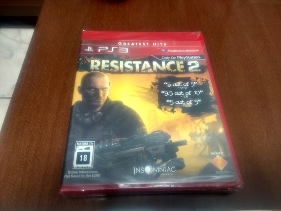 Resistance 2 Do Ps3 Novo Lacrado Original Mídia Física