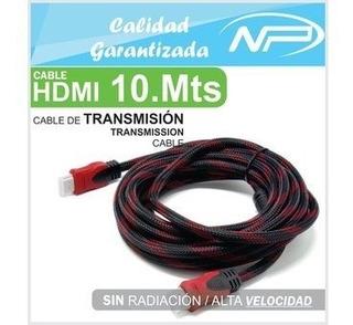 Cable Hdmi 10 Metros Con Blindaje Y Filtro V1.4 Full Hd / 4k
