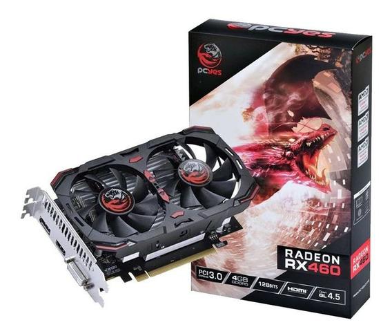 Placa De Vídeo Pcyes Amd Radeon Rx 460 4gb Gddr5 Pci 3.0