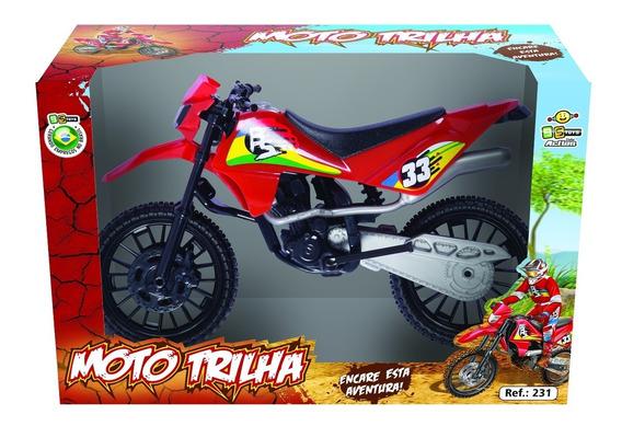 Moto Trilha Infantil Motocross Bstoys Brinquedo Menino Caixa