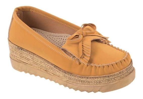 Zapato Confort Shosh 4004 Para Dama Amarillo.