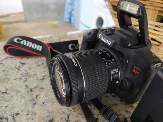 Câmera Fotográfica Canon Eos Rebel T6i