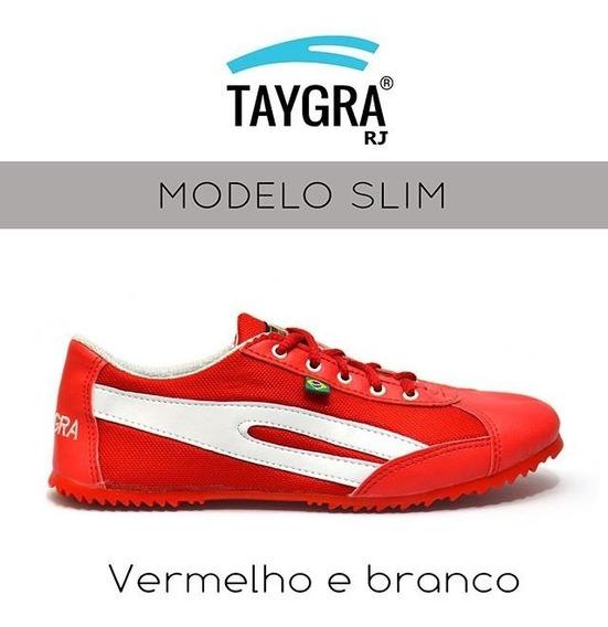 Taygra Capoeira - Slim Vermelho E Branco 39