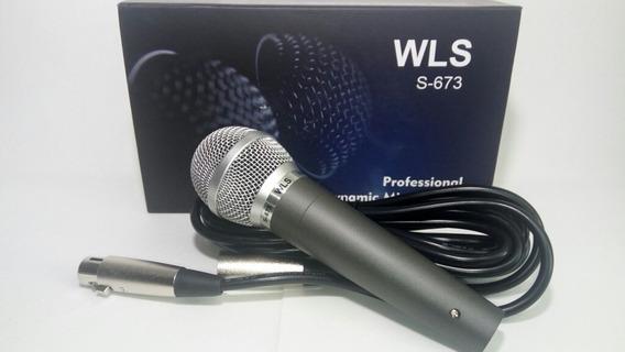 Microfone Com Fio Wls S-673 Com Cabo 5mtrs
