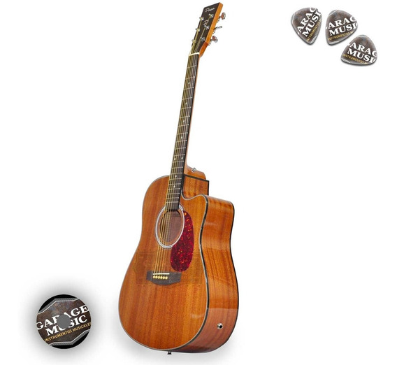 Guitarra Electro Acustica Con Corte Parquer 155zf Funda Pua