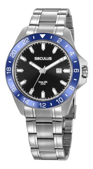 Relógio Prata Seculus Masculino 20801g0svna3