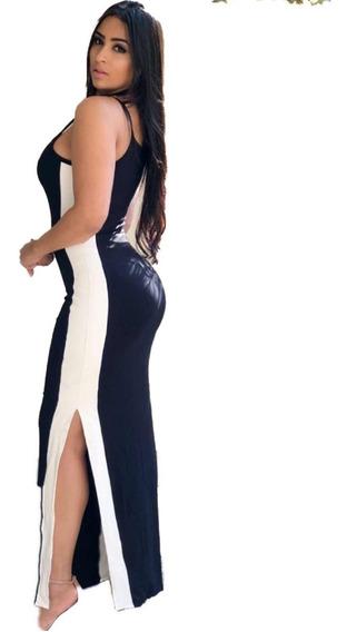 Vestido Feminino Longo Faixa Lateral