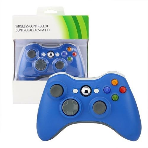 Joystick Control Inalambrico Xbox 360 Compatible Azul