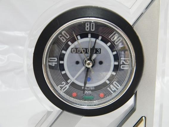 Relógio De Mesa Personalizado Painel Vw Fusca 140km C/luz
