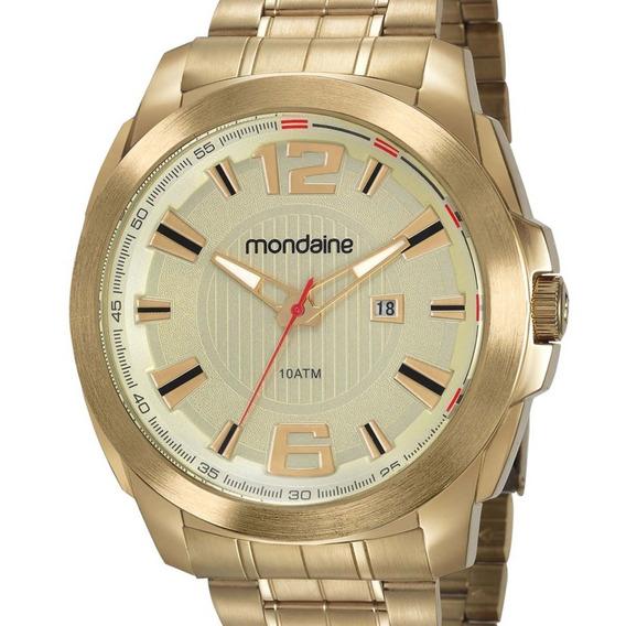 Relógio Mondaine Masculino 83425gpmvds1 Dourado Original