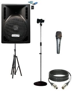 Bafle Potenciado Bluetooth 8 Tripode Microfono Soporte