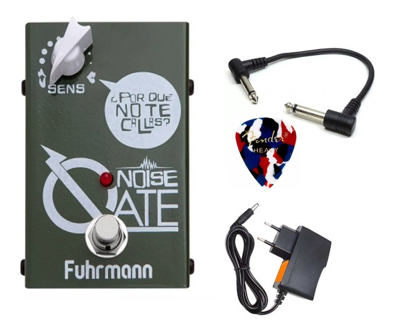 Fuhrmann Noise Gate Pedal Para Guitarra True Bypass C/ Fonte