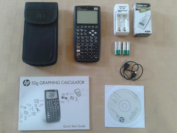 Calculadora Hp50g + Pilas Recargables + Cargador. Oferta 70v