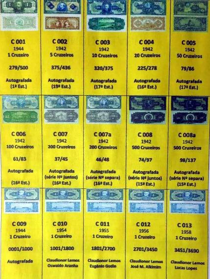 Etiquetas P/ Cédulas Cruzeiros C001 A C352 Via E-mail