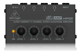 Amplificador De Fones Behringer Power Play Ha400 - Pc0004