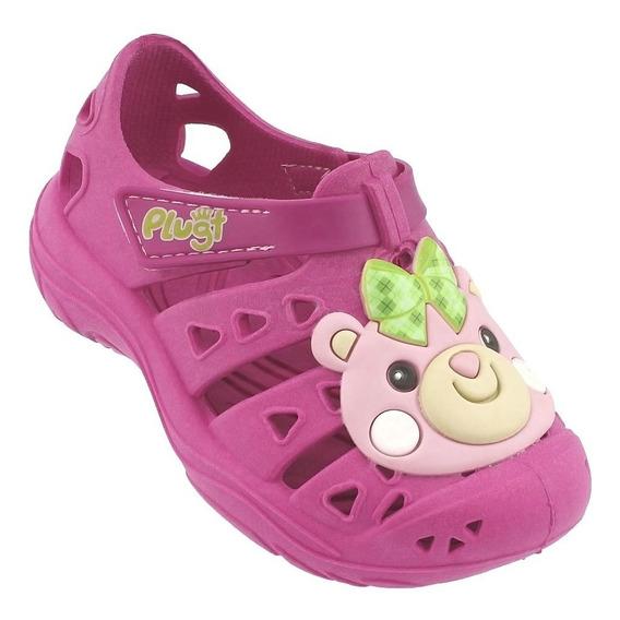 Babuche Plugt Urso Ursinha Infantil - Pink