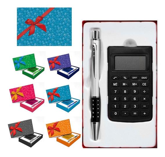 Kit Presente Calculadora E Caneta Zein