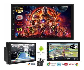 Auto Radio 2 Din Tactil Android Gps Wifi + Camara Retroceso