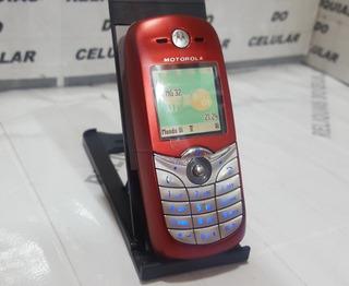 Celular Motorola C650 ¨ Mundo Oi ¨ Lindo 2005 Vermelho Prata