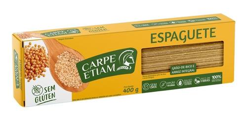 Espaguete Zero Glúten Grão De Bico/arroz 400g Carpe Etiam