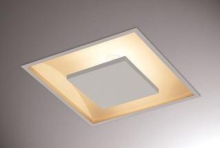 Luminaria Embutir Quadrada 40x40 Luz Indireta C/ 2 Lamp. 9w