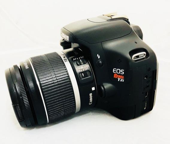 Câmera Canon T2i Seminova Perfeita + Lente 18-55mm Impecáve