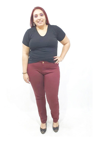 Kit 3 Calça Jeans Feminina Plus Size Skinny Lycra Do 36 A 62