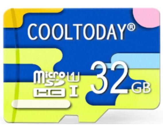 Cartão Memória Micro Card Sd 32gb Classe 10 Cool Today