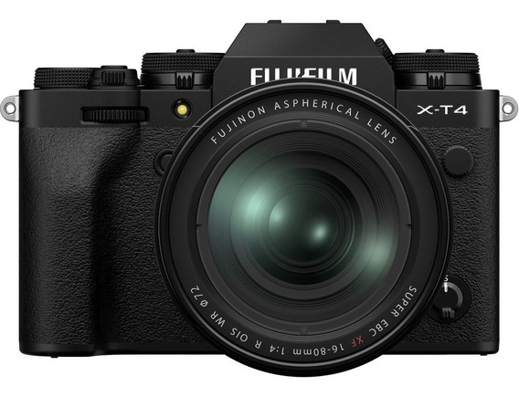 Kit Mirrorless Fujifilm X-t4 4k Com Lente Xf 16-80mm (preta)