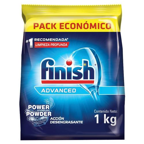Detergente para lavavajillas Finish Automático Advanced polvo repuesto 1kg