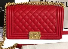 Bolsa Chanel Le Boy Lambskin Original Size Medium 50%off