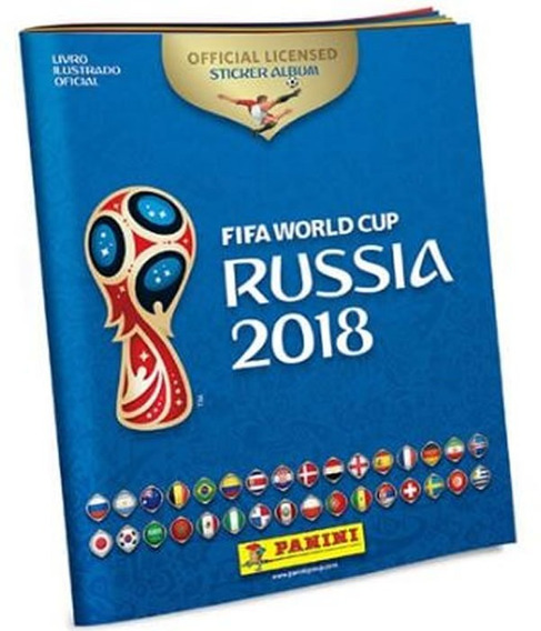 20 Albuns - Fifa World Cup Russia 2018 - Brochura Capa Mole