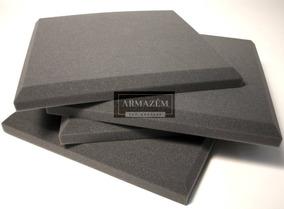 Espuma Acústica Kit C/ 10 Pçs 50cm X 50cm X 2cm Antichamas