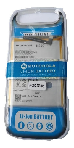 Imagen 1 de 1 de Bateria Pila Para Motorola Moto E4 Plus E5 Plus He50