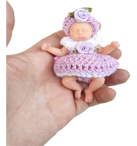 Imagen 1 de 8 de Mini Bebé Reborn Ecoflex 9cms Muñeca Realista Chile!