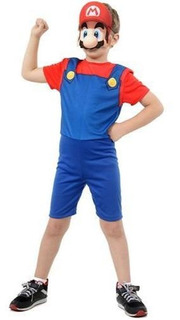 Fantasia Super Mario Bros Curta Com Máscara G Sulamericana