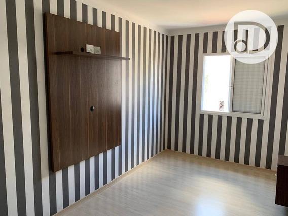 Apartamento Com 2 Dormitórios Para Alugar, 58 M² Por R$ 1.100/mês - Santa Claudina - Vinhedo/sp - Ap1412